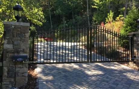 Aluminum gate, Fence Scapes, Asheville, NC