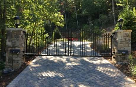 Aluminum gate on hill, Fence Scapes, Asheville, NC