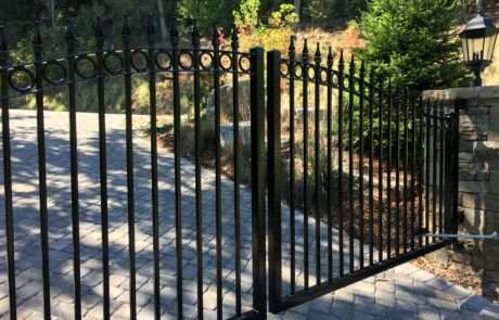 Decorative aluminum gate, Fence Scapes, Asheville, NC