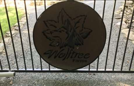 Personalized aluminum gate, Fence Scapes, Asheville, NC