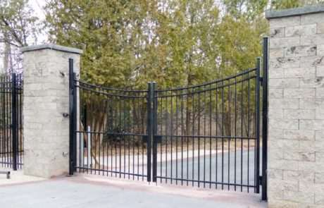 Tall aluminum gate, Fence Scapes, WNC
