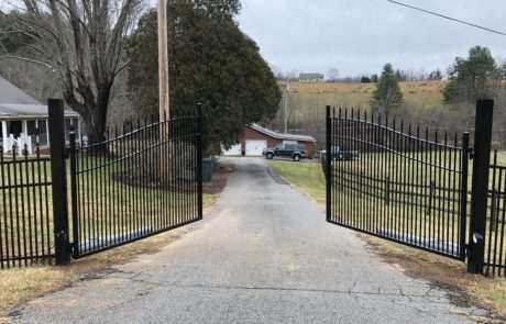 open gate for residential driveway