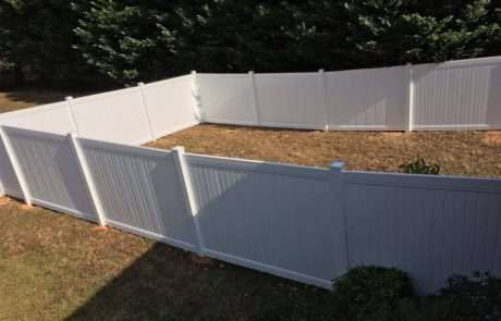 pvc and vinyl fencing containing backyard