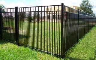 aluminum fencing on grass