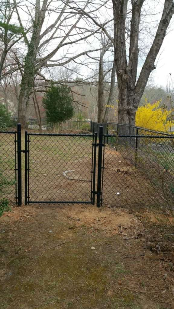 Black chain link gate, Fence Scapes, Asheville, NC