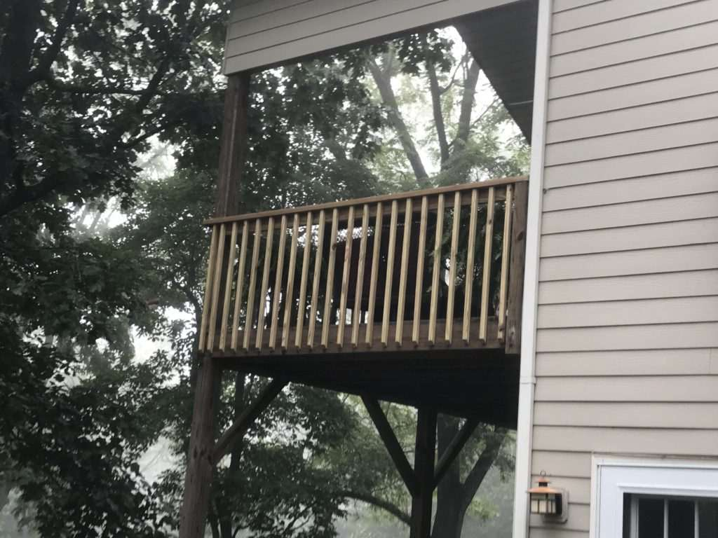 Deck on second story, Fence Scapes, Asheville, NC