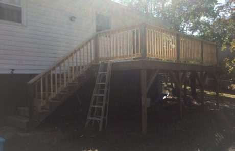 Deck with staircase, Fence Scapes