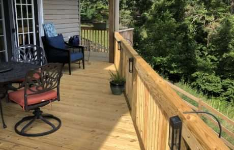 Wood side deck, Fence Scapes, Asheville, NC